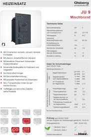 Olsberg Kachelofeneinsatz Ju9 Mischbrand Hotline 7 21