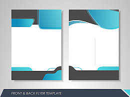 Brochure Background Design Fashion Business Single Page Brochure Design Vector Material