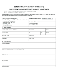 It Incident Report Template Environmental Sample Word