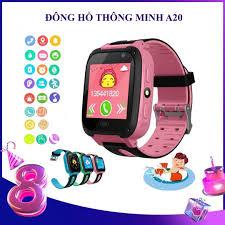 Đồng hồ thông minh A20 lắp sim nghe gọi, Nhắn tin thoại hai chiều như điện  thoại, định vị LBS,màn hình cảm ứng,SOS (đông hồ định vị trẻ em, đồng hồ  thông