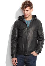 vince camuto jacket hooded washed goat leather jacket
