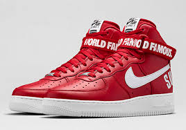 nike shoes air force 1 supreme. shoefax analysis: is the supreme x nike air force 1 high \u201cred\u201d really world famous? nov 11, 2014. shoes k