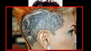 тату на голове у девушек женские татуировки на голове и лице