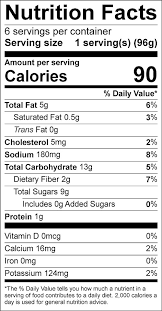 apple coleslaw food nutrition facts label