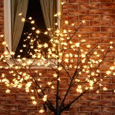 outdoor blossom tree led lights. 1.8m outdoor cherry blossom tree, connectable, 320 warm white leds tree led lights