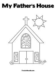 Small Picture Church with Stained Glass Window Coloring Page Cut the doors so