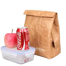 Foldable Reusable Leakproof paper Lunch Food Bag Container ...