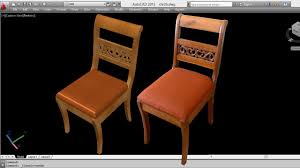 Dining Chair Autocad 3d