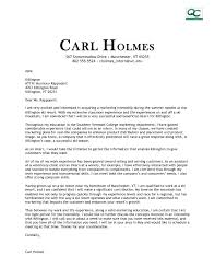 Marketing Cover Letter Sample Internship Lv Crelegant Com
