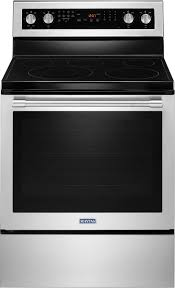 maytag 6 4 cu ft self cleaning freestanding electric convection range silver mer8800fz best