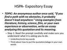 hspa expository essay topics literature review of jit kanban system hspa expository essay topics