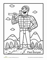 tall tales paul bunyan fairy tall tales paul bunyan worksheet education com on paul bunyan coloring sheets