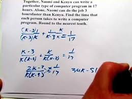 word problems with rational equations