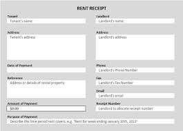 rent receipt templates  excel pdf formats rent receipt template 355