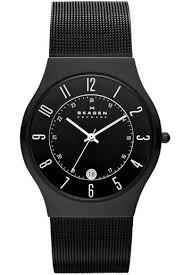 skagen mens grenen black titanium watch 233xltmb £96 75 skagen mens grenen black titanium watch 233xltmb