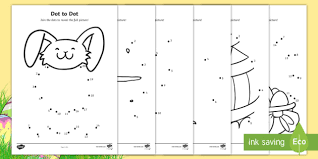 Easter Dot To Dot Worksheets Australia Primary Resource