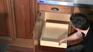 Kitchen Cabinet Rolling Shelves Install Roll Out Shelf To Base Cabinet Deck Youtube