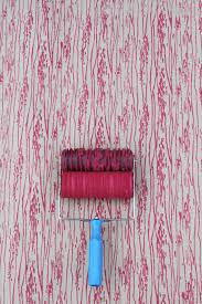 Patterned Paint Roller in Woodgrain with Applicator by Not Wallpaper Patterned  Paint Rollers, dark brown