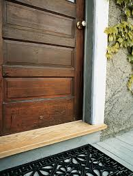 Fresh Wooden Exterior Door Threshold Artistic Color Decor Photo