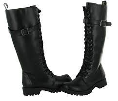 volatile volatile combat women s boots knee high faux leather vegan shoes com