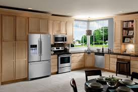 Light Wood Kitchen Classic Kitchen Style With Stainless Steel Oven Cabinet Kitchen