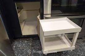 Blind Corner Cabinet Pull Out Shelves How To Build Pull Out Shelves For A Blind Corner Cabinet Part 100 42