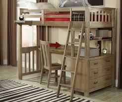 Driftwood Bedroom Furniture 10070 Twin Size Loft Bed With Desk Highlands Beds Ne Kids