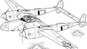 Kleurplaat Vliegtuig Met Twee Propellers Kleurplaatjenl
