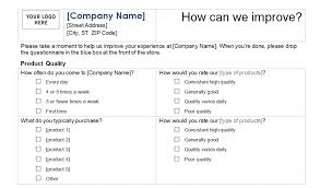 Customer Service Survey Template Free Survey On Customer Service Under Fontanacountryinn Com