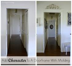 add character to a doorframe with molding an oregon cote