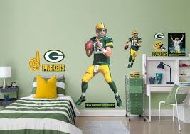 aaron rodgers life size officially licensed nfl removable wall decal fathead wall decal