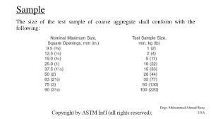Astm Designation C 136 For Coarse Aggregates