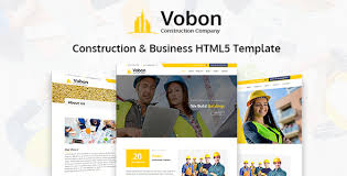 Construction Website Templates Gorgeous Vobon Construction And Business HTML48 Template By Xcodesolution