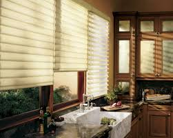 Window Treatment For Kitchens Awesome Kitchen Window Treatment And Brown Curtain 4738