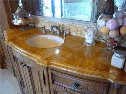 custom yellow marble kitchen countertop island top