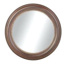 round mirror frame industrial brown wooden round mirror frame in