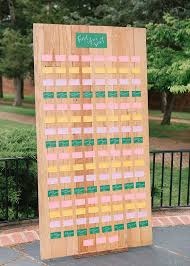 Great Woods Seating Chart This Simple Cute And Colorful Guest Seating Chart At Anna