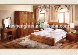 Latest Design Wood Color Pure Wood Adult Bedroom Sets King Size Queen Size