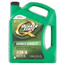 Quaker State Advanced Durability Sae 20w 50 Motor Oil 1 25 Gal Walmart Com