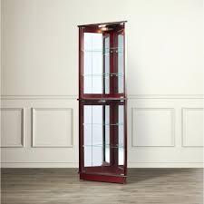 corner curio cabinet ry off white to own cost per week oak curved glass corner curio cabinet