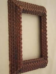 antique wood picture frames. Antique Tramp Art Hand Carved Wood Frame, For Mirror Or Picture Frame Frames W