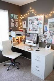 home office ideas pinterest. Exellent Pinterest White Grey U0026 Fairy Lights  Home Office Ideas In Home Office Ideas Pinterest F