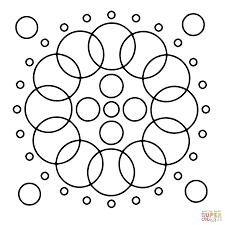 Disegno Di Mandala Con Cerchi Da Colorare Disegni Da Colorare E