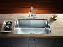 sinks stainless undermount sink overmouth magnum large single bowl stainless steel undermouth wooden table