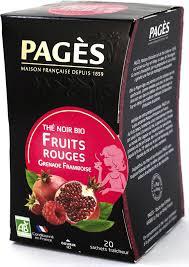 <b>Чай черный Pages</b> Красные фрукты, малина, гранат, 20 пакетиков