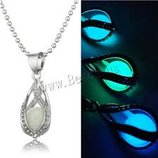 1 PCS HOT Fashion Women Men Couple The Little Mermaid's Teardrop Glow in  Dark Pendant Necklace Gift Glowing Jewelry Lovers'-in Chain Necklaces from  Jewelry ...