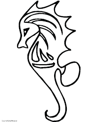 Seahorse Coloring Pages Page Cute Cartoon Free Printable Color