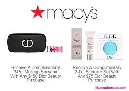macy s free beauty gift with purchase offers from dior beauty kiehl s origins peter thomas roth philosophy sk ii dels at makeupbonuses