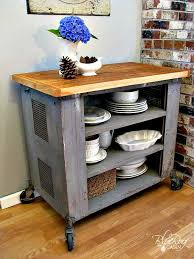 kitchen island cart industrial. Blue Roof Cabin Diy Industrial Kitchen Island Or Cart Whatever Butcher Block L