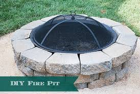 how to diy a backyard fire pit easy weekend project
